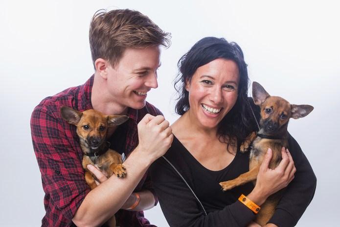 Couple replicates traditional newborn photo shoots