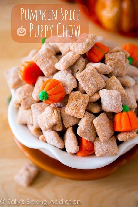 Easy No-Bake Thanksgiving Desserts: Pumpkin Spice Puppy Chow