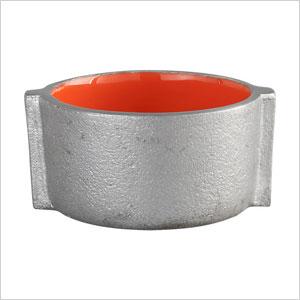 Orange candle holder