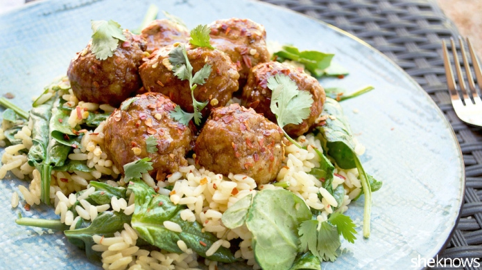 Orange chicken meatballs are a healthier