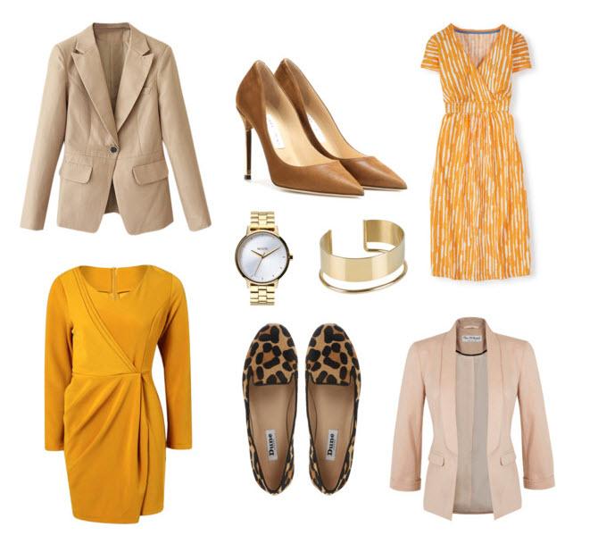 Orange dress outfit