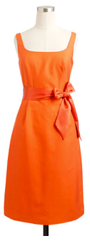 Orange dress from J. Crew