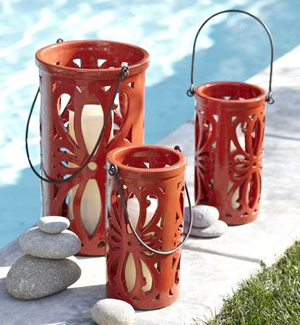Ceramic lanterns - Cinco de Mayo lighting