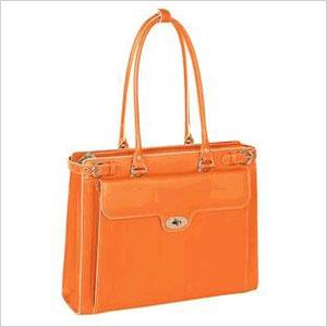 orange laptop bag