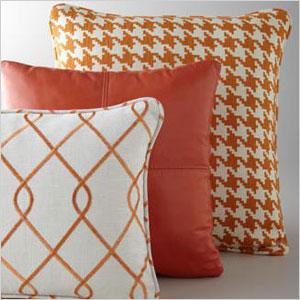 Tangerine pillows