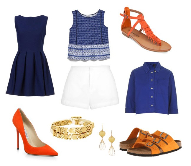Orange shoes outfit