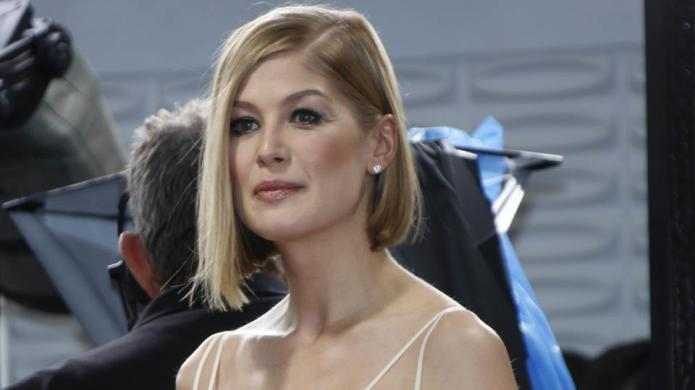 We can't stop staring at Rosamund