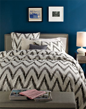 Organic Chevron Duvet Cover and Shams