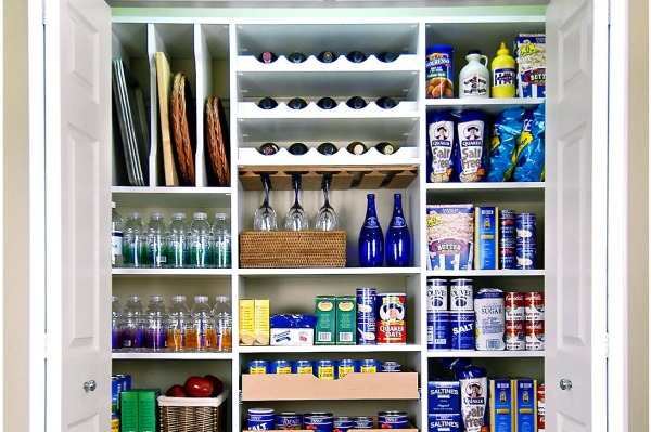 organized kitchen pantry