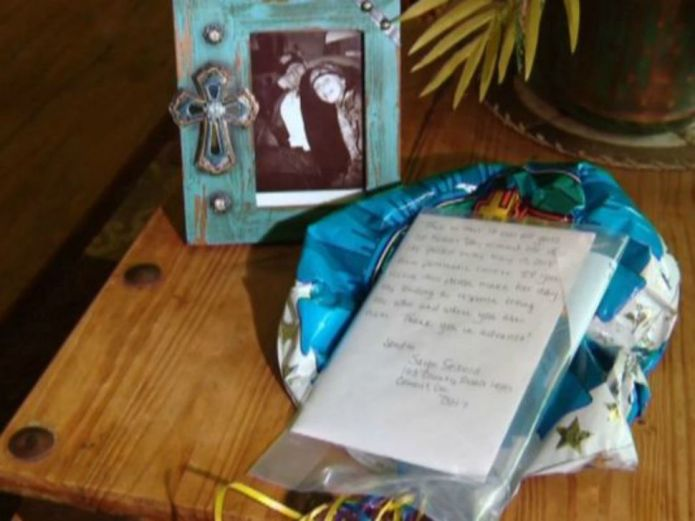 Balloon released at dad's grave returns