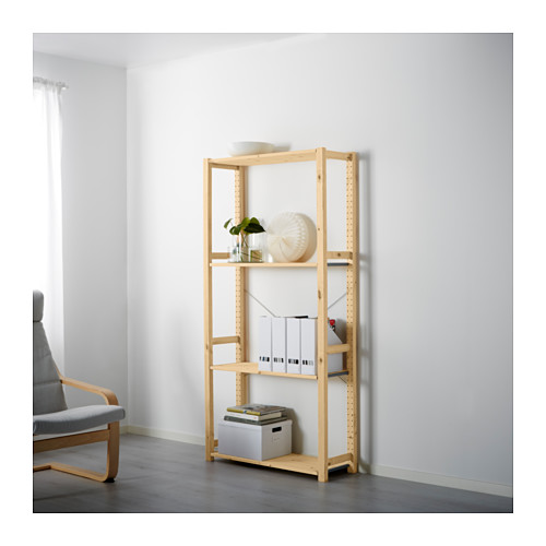 Ikea Ivar shelving unit neutral wood