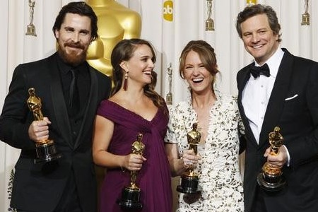 Oscar winners Christian Bale, Natalie Portman, Melissa Leo and Colin Firth