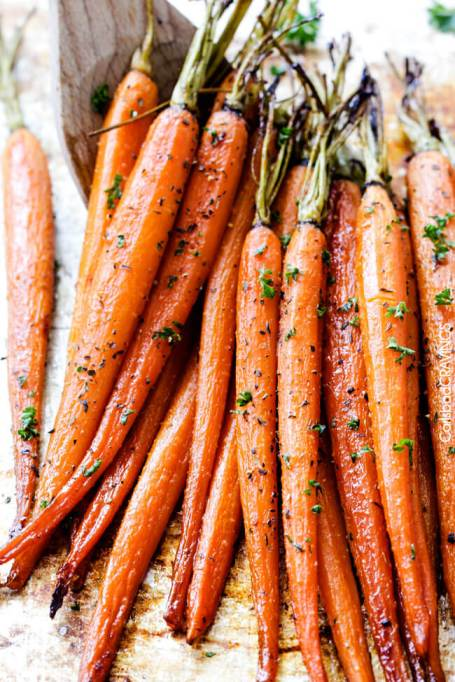 Honey-garlic roasted carrots