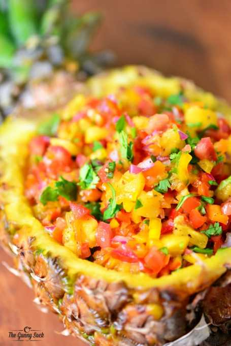 Pineapple salsa recipe from The Gunny Sack