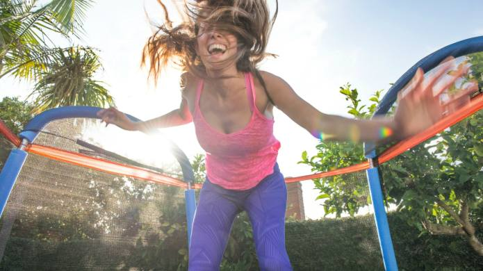 A Trampoline Workout Is an Amazing