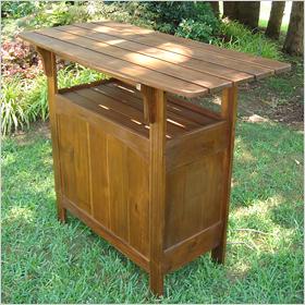 Sierra outdoor wooden bar table