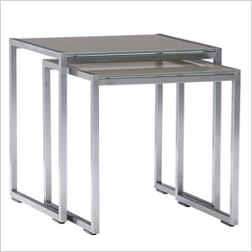 Dune nesting tables with glass