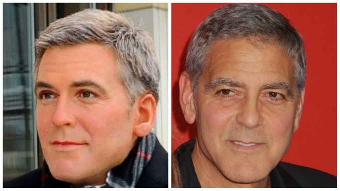 George Clooney and his wax figure