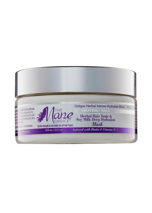 Best Under $20 Hair Masks | The Mane Choice Heavenly Halo Herbal Hair Tonic & Soy Milk Deep Hydration Mask