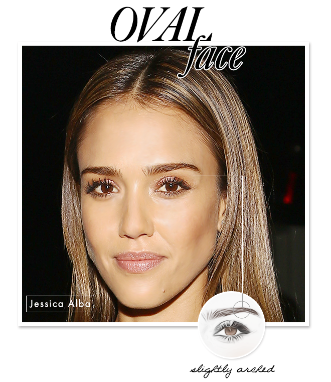 Eyebrow Shapes to Flatter Your Face: Oval