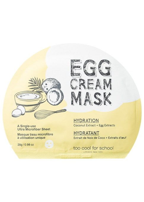 Best Travel Beauty Products: Too Cool for School Egg Cream Mask Hydration | Travel 2017