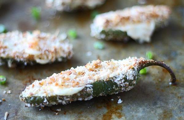Skinny shrimp-stuffed jalapeño poppers