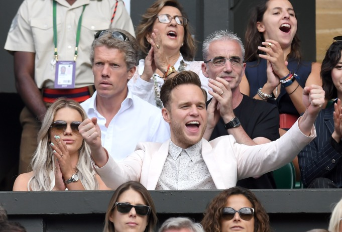 Check out these celebrities at the 2017 Wimbledon tournament: Louisa Johnson & Olly Murs