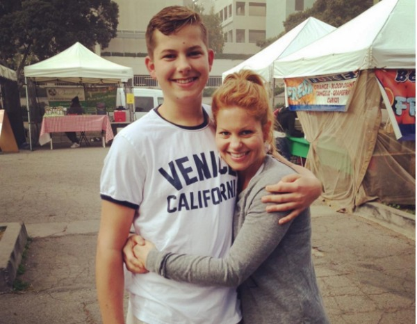 Candace Cameron Bure and her son