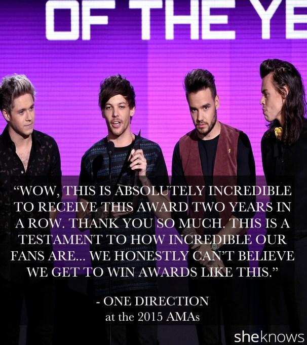 One Direction 2015 AMA