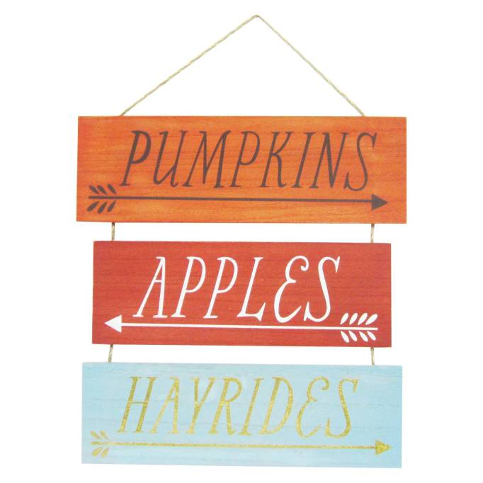 The 15 Best Target Halloween Decorations Under $20 | Hang this sign and get in the spirit of fall.