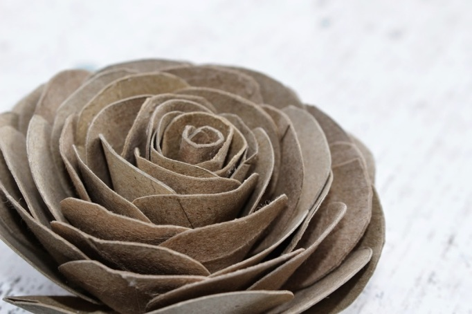 Toilet paper roll roses