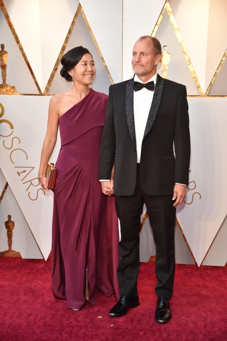 Woody Harrelson, Laura Louie at Oscars 2018
