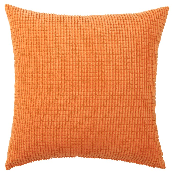 Halloween Decor at IKEA: An orange cushion cover will dress up your couch in no time