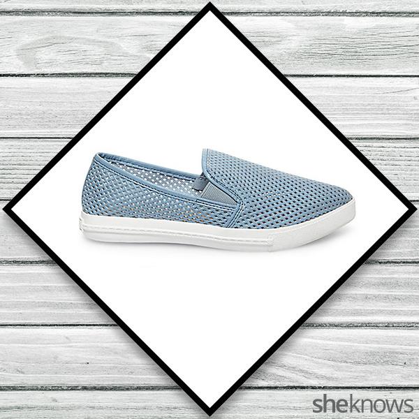 Light blue slip-on sneakers