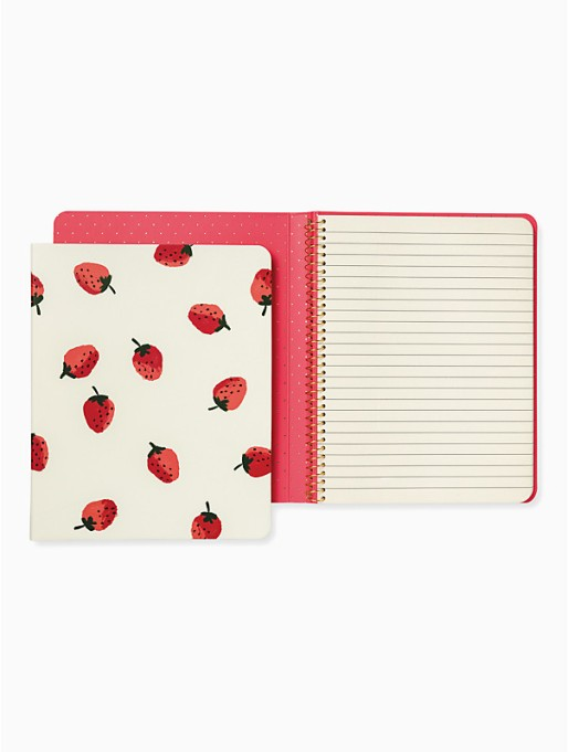 Strawberry Concealed Spiral Notebook by Kate Spade