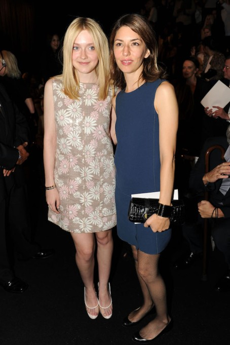 Dakota Fanning and Sofia Coppola at the Marc Jacobs Collection Spring 2012 Show
