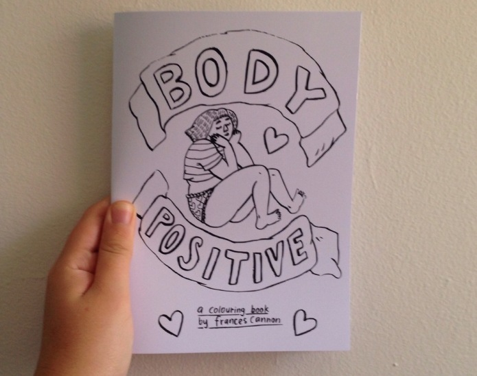 Artist's adult coloring book celebrates body
