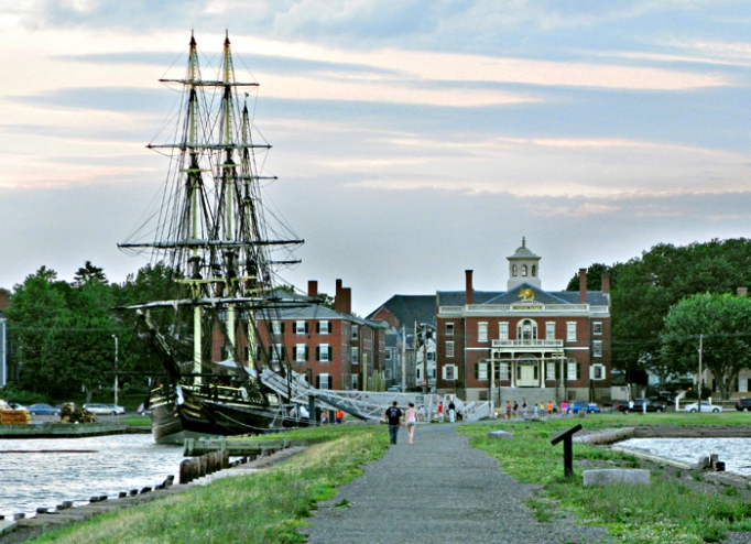 A view from Derby Wharf in Salem, Massachusetts