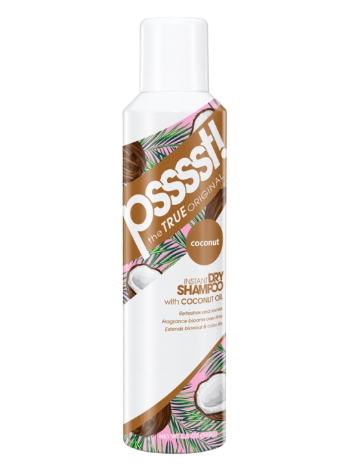 Psssst Instant Dry Hair Shampoo Spray with Coconut Oil
