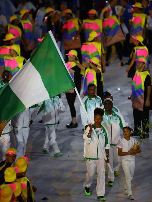 Team Nigeria Opening Ceremony Olympics 2016