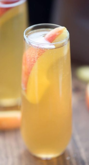 Spiked Apple Cider Recipes for All Your Fall Parties: apple cider bellini