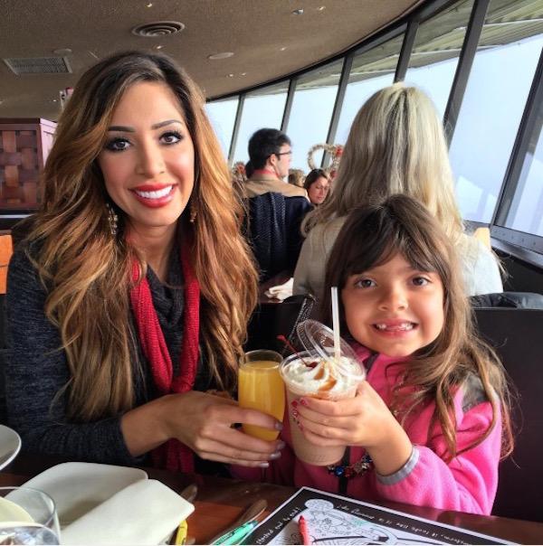 Teen Mom's Farrah Abraham and daughter Sophia having brunch in Seattle, Washington.