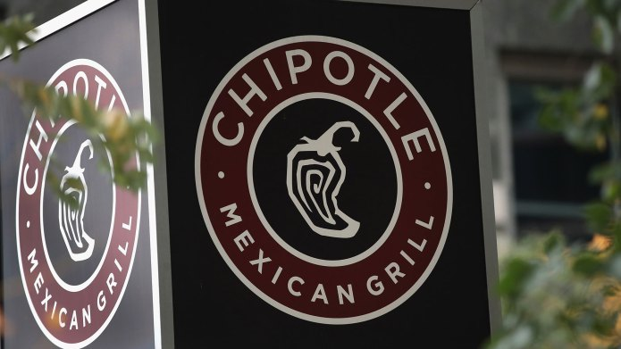 Chipotle restaurant sign