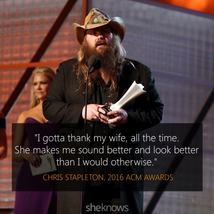 Chris Stapleton 2016 ACM Awards acceptance speech