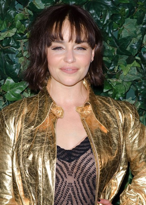 Best Celebrity Hair Transformations of 2017: Emilia Clarke's brunette lob