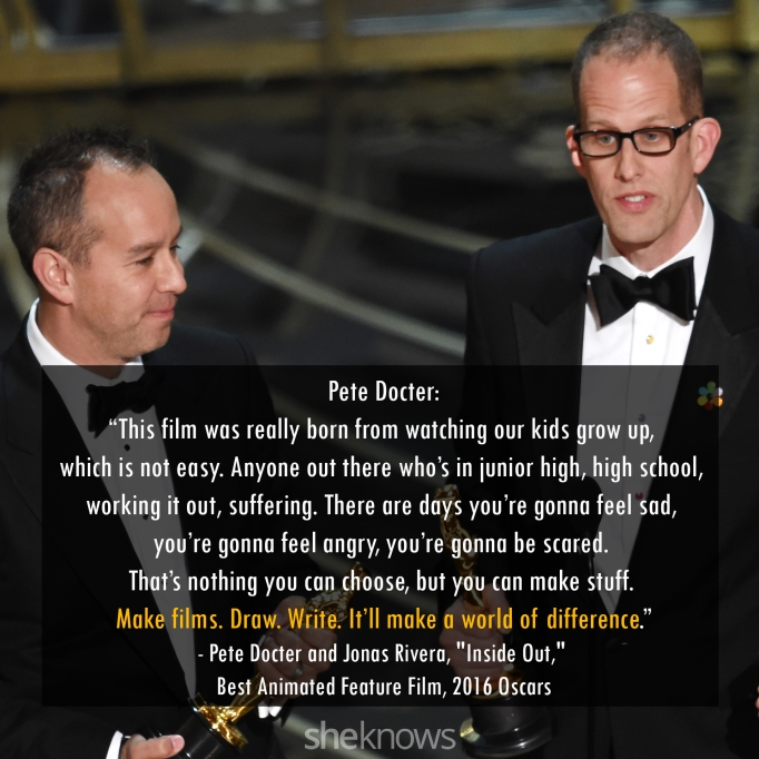 Pete Docter and Jonas Rivera Oscars 2016