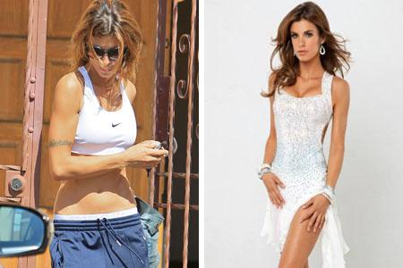 Missing! Elisabetta Canalis' tattoos vanish in