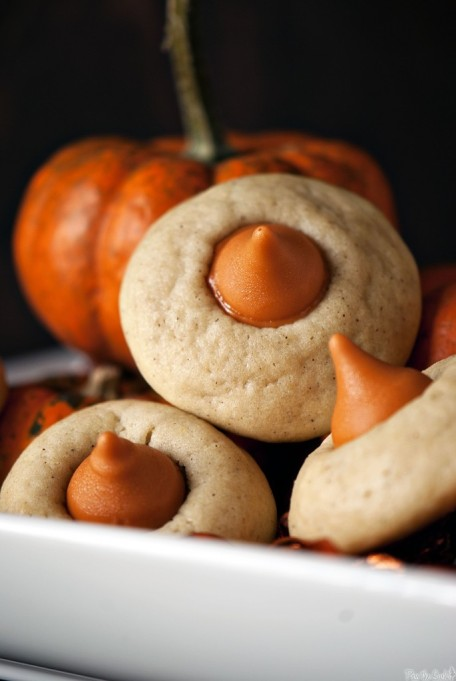 Cute Halloween Treats: Warm spices and sweet Pumpkin Spice HERSHEY'S KISSES Chocolate make these cookies special