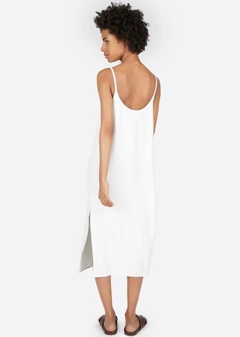 The Best Stores to Shop for Fashion Basics: Everlane The Japanese GoWeave Long Slip Dress | Summer style 2017