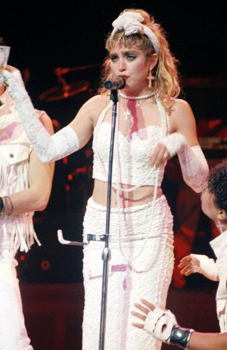 Madonna performing 1985